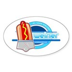 Weiner Underwear - Grey Briefs Sticker (Oval 50 pk)