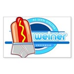 Weiner Underwear - Grey Briefs Sticker (Rectangle 10 pk)