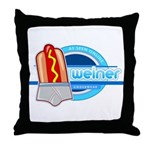 Weiner Underwear - Grey Briefs Throw Pillow