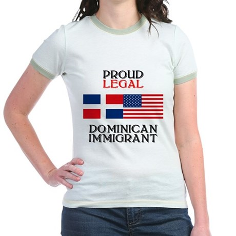 Dominican Immigrant Jr. Ringer T-Shirt