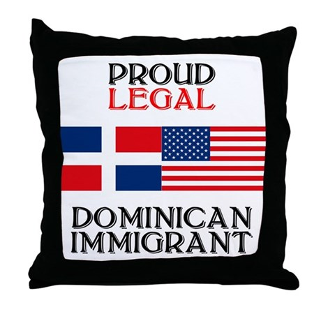 Dominican Immigrant Throw Pillow
