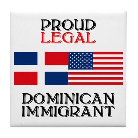 Dominican Immigrant Tile Coaster