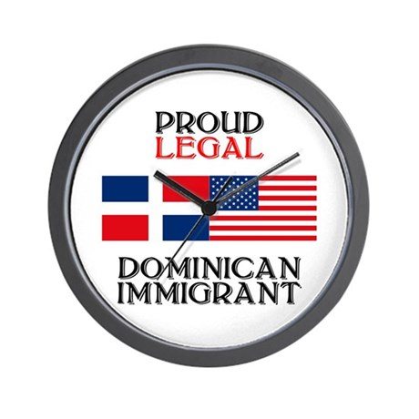 Dominican Immigrant Wall Clock