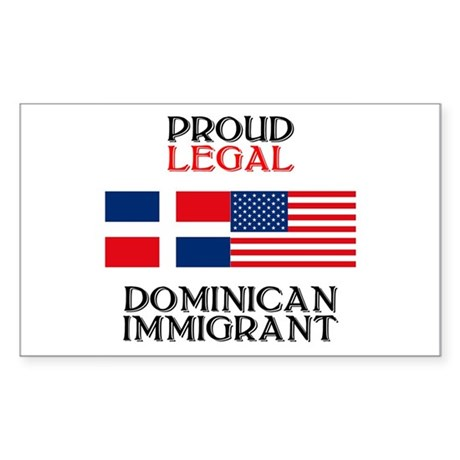 Dominican Immigrant Rectangle Sticker