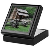 Cades Cove Log Cabin Keepsake Box