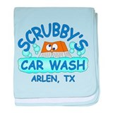 Scrubbys Car Wash baby blanket