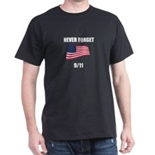 Never Forget 9/11 Black T-Shirt