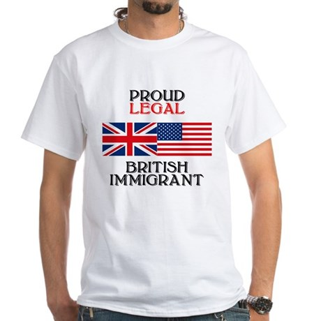 British Immigrant White T-Shirt