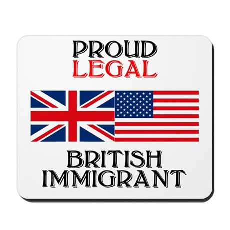 British Immigrant Mousepad