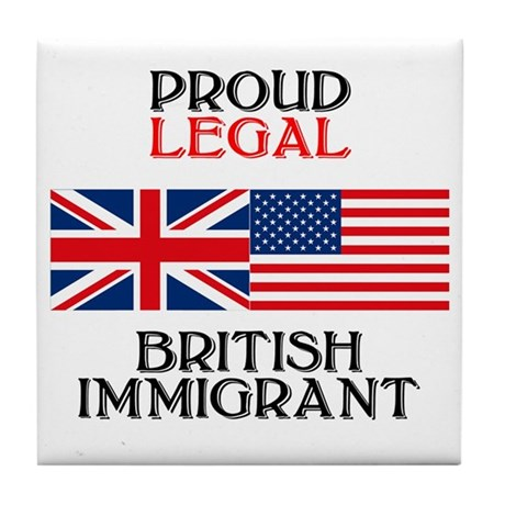 British Immigrant Tile Coaster
