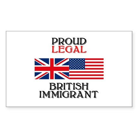 British Immigrant Rectangle Sticker