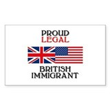 British Immigrant Rectangle Decal
