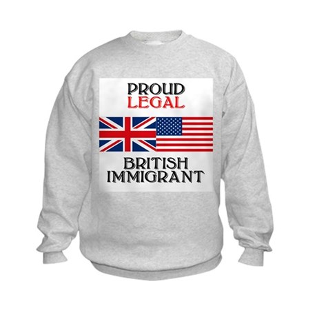 British Immigrant Kids Sweatshirt