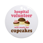 Funny Hospital Volunteer Ornament (Round)