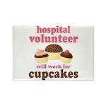 Funny Hospital Volunteer Rectangle Magnet