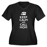 Keep Calm and Call Mom Women's Plus Size V-Neck Da