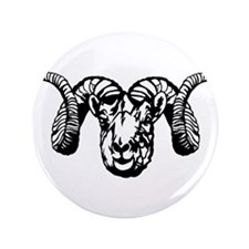 "Ram's Head symbol 3.5"" Button (100 pack)"