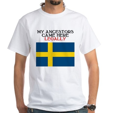 Swedish Heritage White T-Shirt
