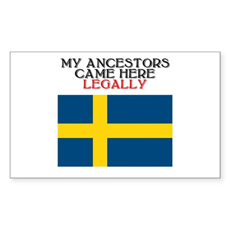 Swedish Heritage Rectangle Sticker