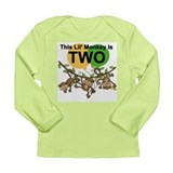 Swinging Monkeys 2nd Birthday Long Sleeve Infant T