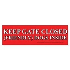 Dog Gate Bumper Sticker