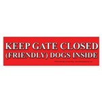Dog Gate Sticker (Bumper)