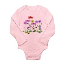 Flower Bunches Long Sleeve Infant Bodysuit
