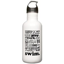 Swim Sports Quote Funny Water Bottle