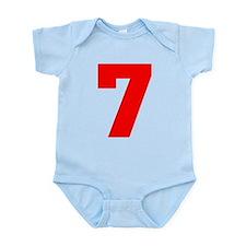 lucky seven Infant Bodysuit