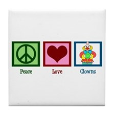 Peace Love Clowns Tile Coaster