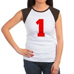 NUMBER 1: WE'VE GOT YOUR NUMB Women's Cap Sleeve T