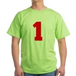 NUMBER 1: WE'VE GOT YOUR NUMB Green T-Shirt