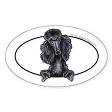 Funny Black Poodle Decal