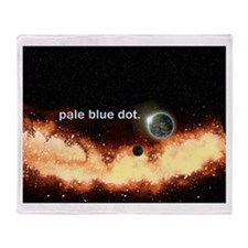 Pale Blue Dot Throw Blanket