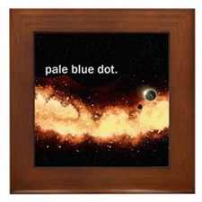 Pale Blue Dot Framed Tile