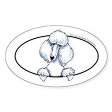 White Poodle Lover Decal