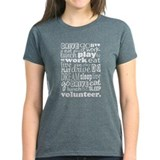Volunteer Life Quote Funny Tee