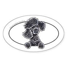 Black Poodle Lover Decal