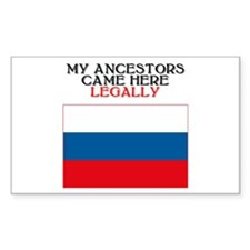 Russian Heritage Rectangle Decal