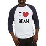 i heart bean Baseball Jersey