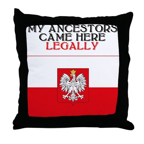 Polish Heritage Throw Pillow