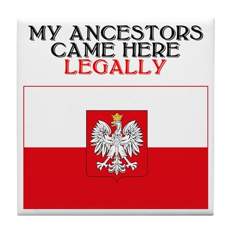 Polish Heritage Tile Coaster