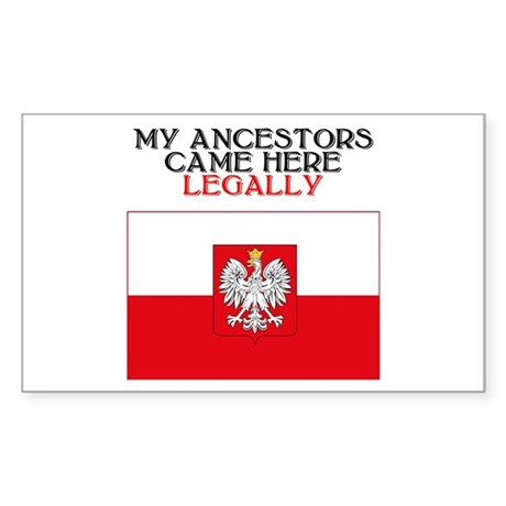 Polish Heritage Rectangle Sticker