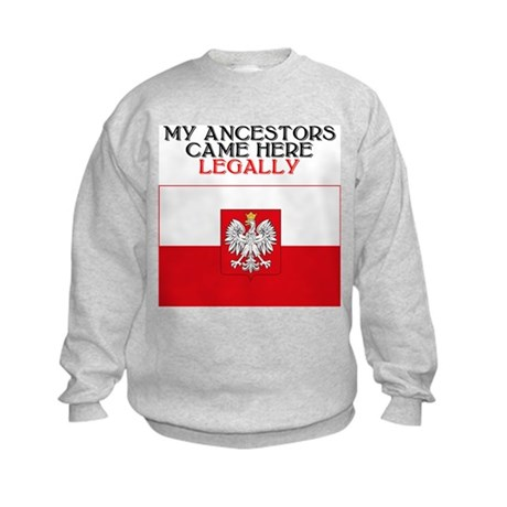 Polish Heritage Kids Sweatshirt