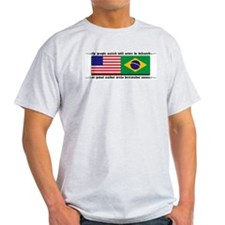 USA - Brazil Ash Grey T-Shirt