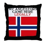 Norwegian Heritage Throw Pillow