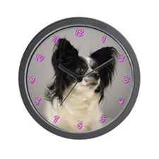 Papillon Dog Wall Clock
