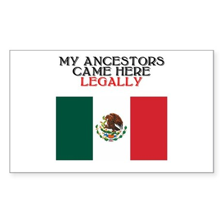 Mexican Heritage Rectangle Sticker