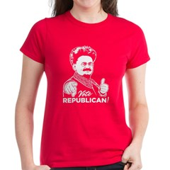 Trotsky Vote Republican Women's Dark T-Shirt