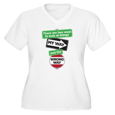 my way Women's Plus Size V-Neck T-Shirt